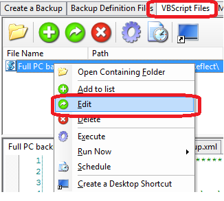 How to use VBScript to check for free space on the backup