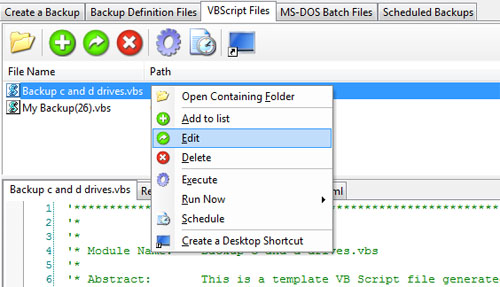 how to end a vbscript file
