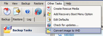 How to create a Virtual machine from a Macrium image backup